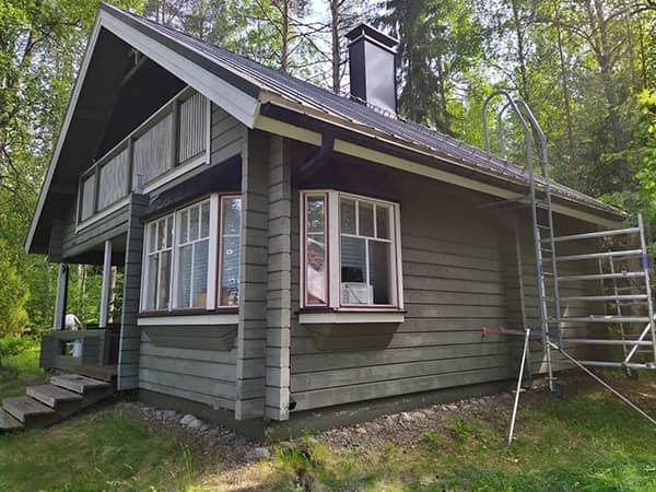 Uuden talon maalaus